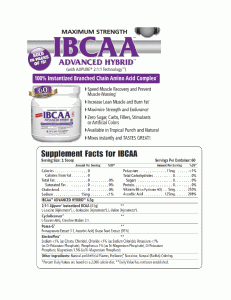 Advanced BCAA technology